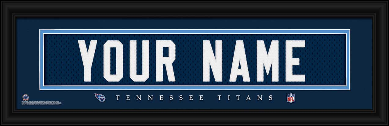 NFL - Tennessee Titans - Personalized Jersey Nameplate - Framed Picture