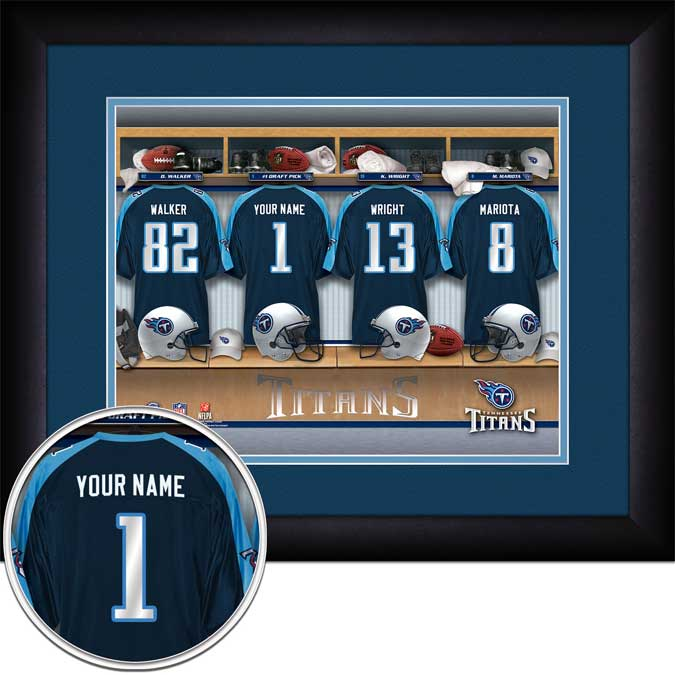 NFL - Tennessee Titans - Personalized Locker Room - Framed Picture