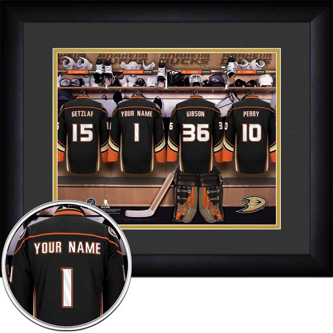 NHL - Anaheim Ducks - Personalized Locker Room - Framed Picture