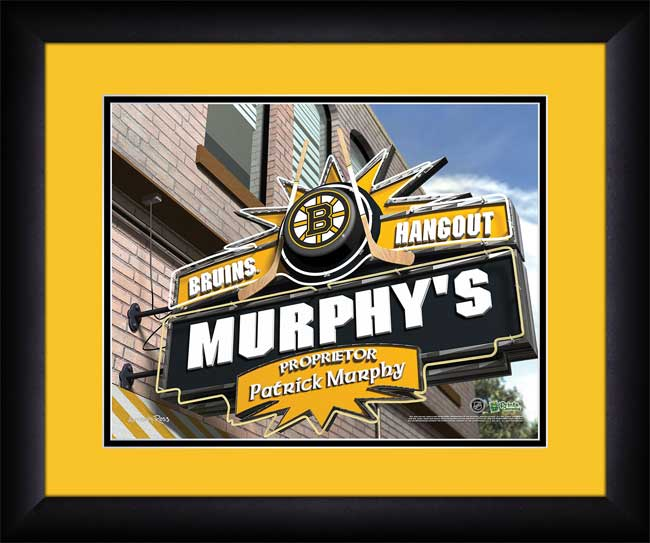 NHL - Boston Bruins - Personalized Hangout Sign - Framed Picture