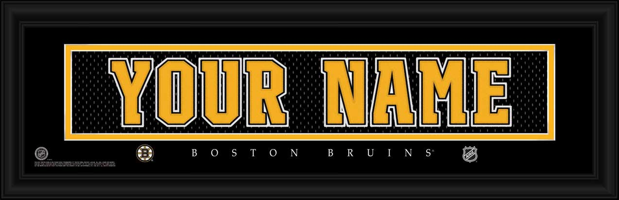NHL - Boston Bruins - Personalized Jersey Nameplate - Framed Picture