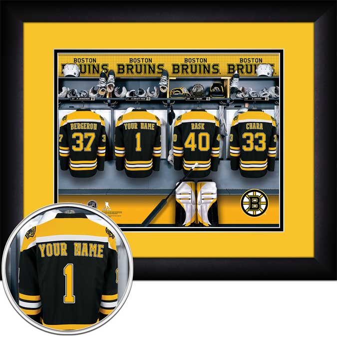 NHL - Boston Bruins - Personalized Locker Room - Framed Picture