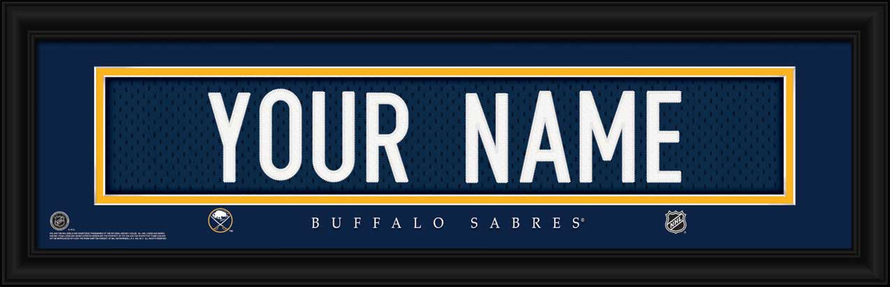 NHL - Buffalo Sabres - Personalized Jersey Nameplate - Framed Picture