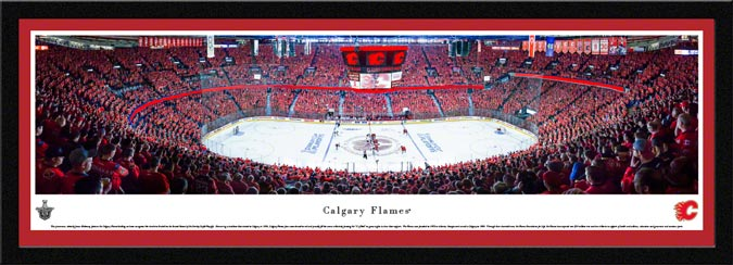 NHL - Calgary Flames - C of Red - Stanley Cup - 2015 - Framed Picture