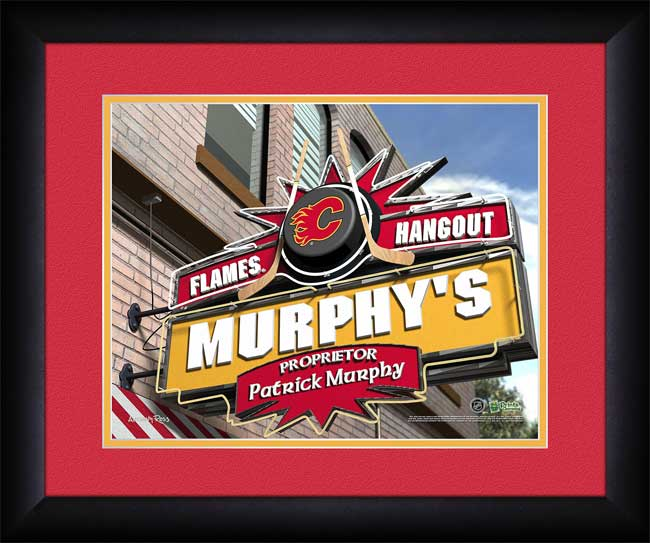 NHL - Calgary Flames - Personalized Hangout Sign - Framed Picture