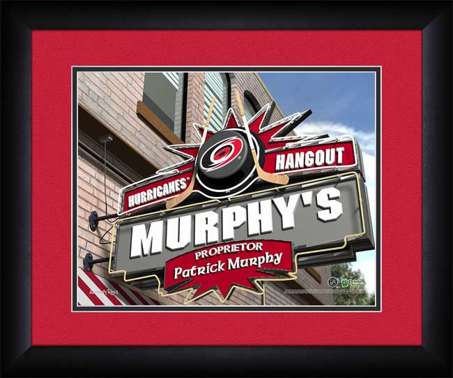NHL - Carolina Hurricanes - Personalized Hangout Sign - Framed Picture