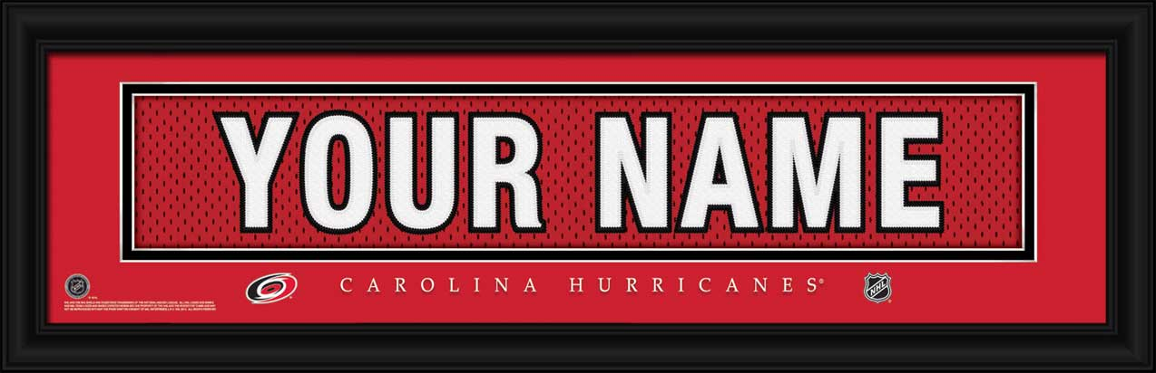 NHL - Carolina Hurricanes - Personalized Jersey Nameplate - Framed Picture