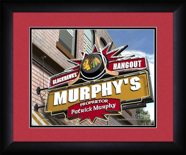 NHL - Chicago Blackhawks - Personalized Hangout Sign - Framed Picture
