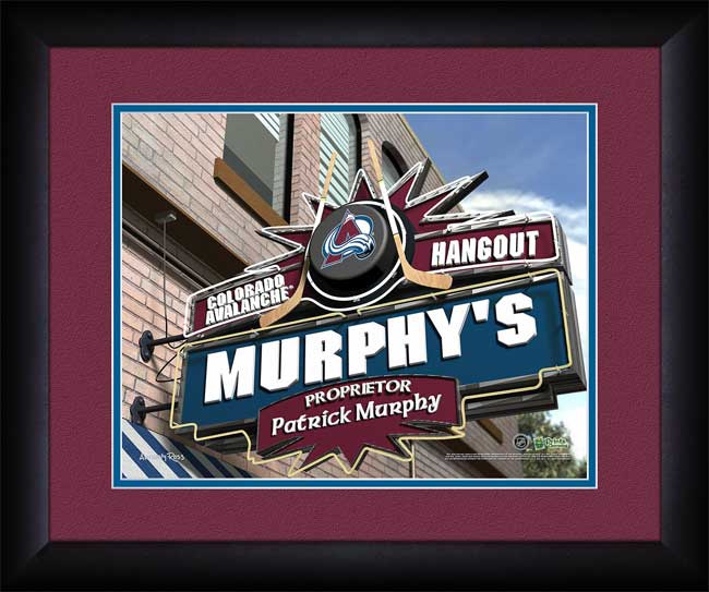 NHL - Colorado Avalanche - Personalized Hangout Sign - Framed Picture