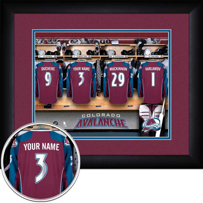 NHL - Colorado Avalanche - Personalized Locker Room - Framed Picture