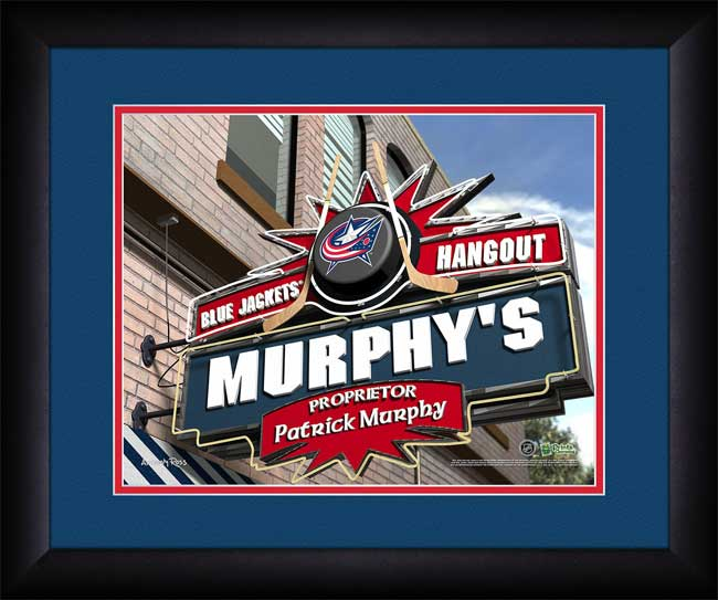 NHL - Columbus Blue Jackets - Personalized Hangout Sign - Framed Picture