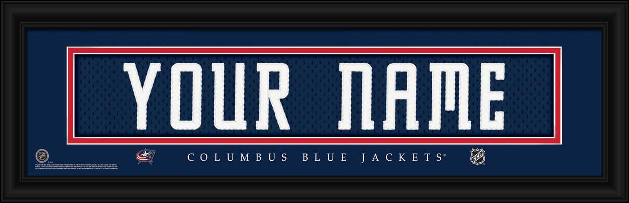 NHL - Columbus Blue Jackets - Personalized Jersey Nameplate - Framed Picture