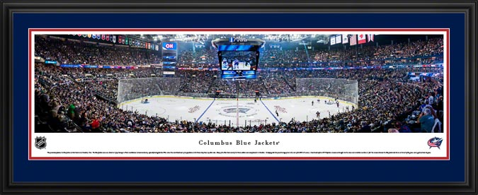 NHL - Columbus Blue Jackets - Nationwide Arena - Framed Picture