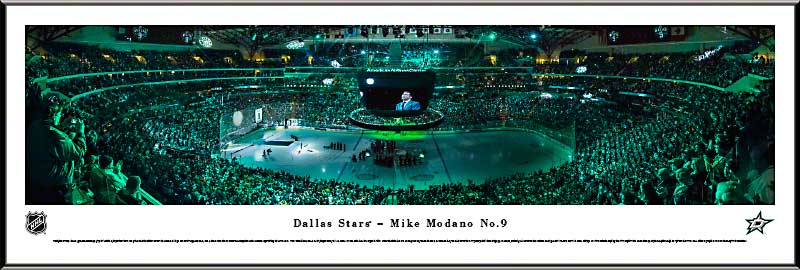 NHL - Dallas Stars - Mike Modano - Number 9 - Framed Picture