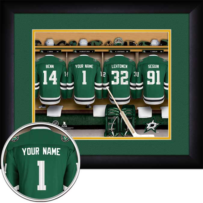 NHL - Dallas Stars - Personalized Locker Room - Framed Picture