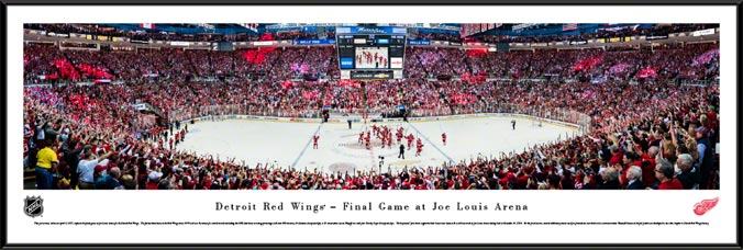 NHL - Detroit Red Wings - Joe Louis Arena - Framed Picture