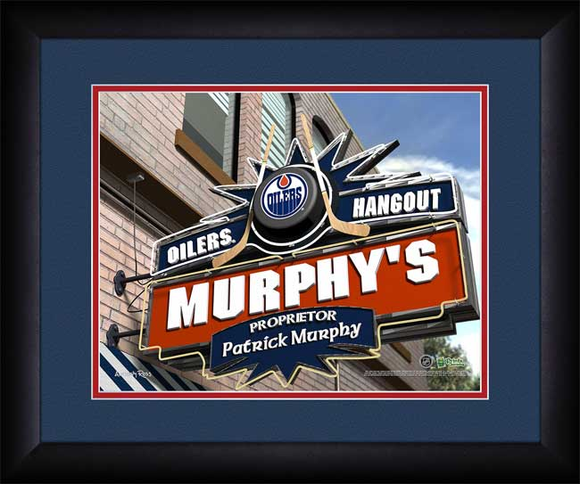 NHL - Edmonton Oilers - Personalized Hangout Sign - Framed Picture