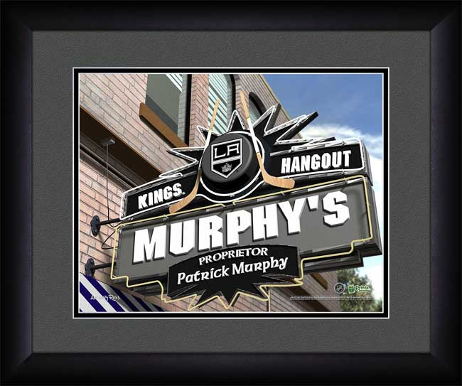 NHL - Los Angeles Kings - Personalized Hangout Sign - Framed Picture