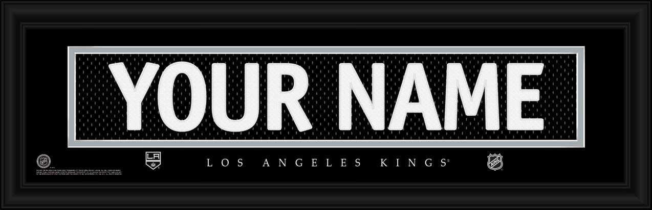 NHL - Los Angeles Kings - Personalized Jersey Nameplate - Framed Picture
