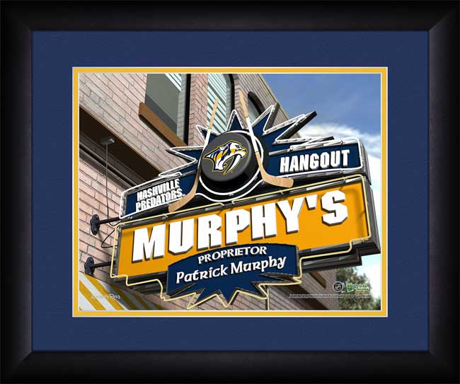 NHL - Nashville Predators - Personalized Hangout Sign - Framed Picture