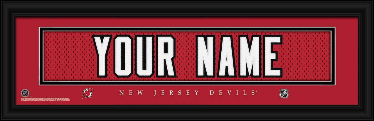 NHL - New Jersey Devils - Personalized Jersey Nameplate - Framed Picture