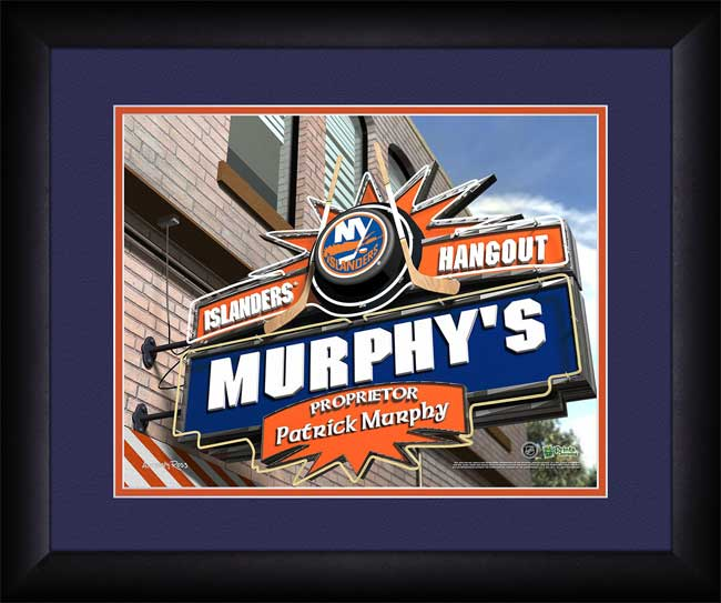NHL - New York Islanders - Personalized Hangout Sign - Framed Picture
