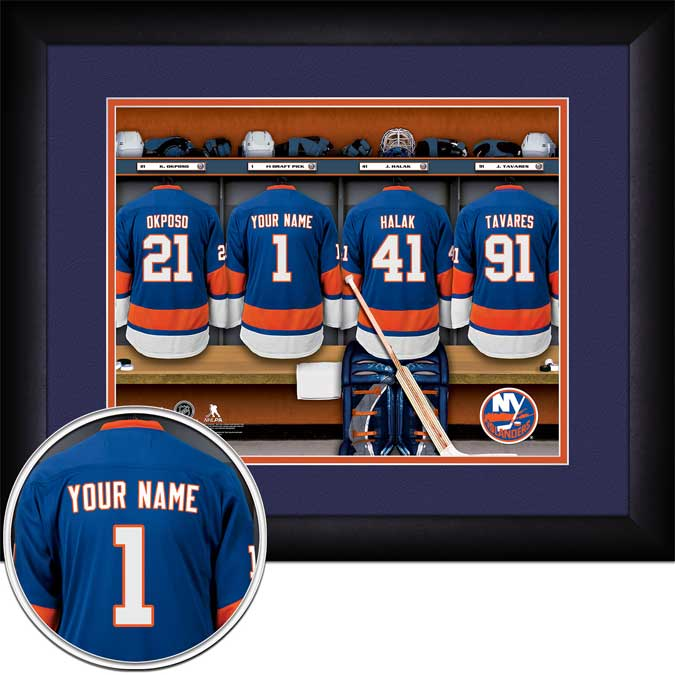 NHL - New York Islanders - Personalized Locker Room - Framed Picture