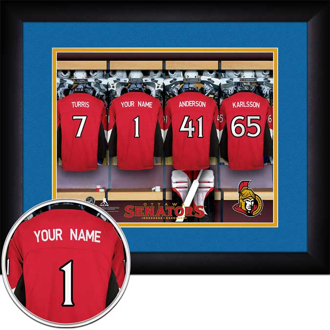 NHL - Ottawa Senators - Personalized Locker Room - Framed Picture
