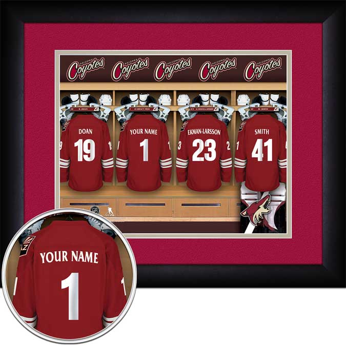 NHL - Phoenix Coyotes - Personalized Locker Room - Framed Picture