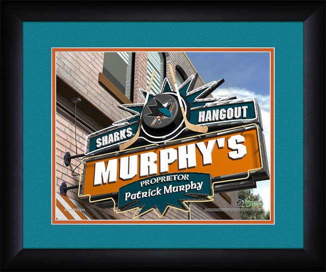 NHL - San Jose Sharks - Personalized Hangout Sign - Framed Picture