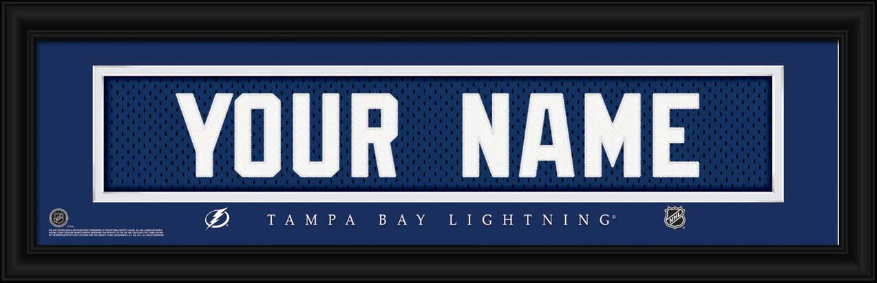 NHL - Tampa Bay Lightning - Personalized Jersey Nameplate - Framed Picture