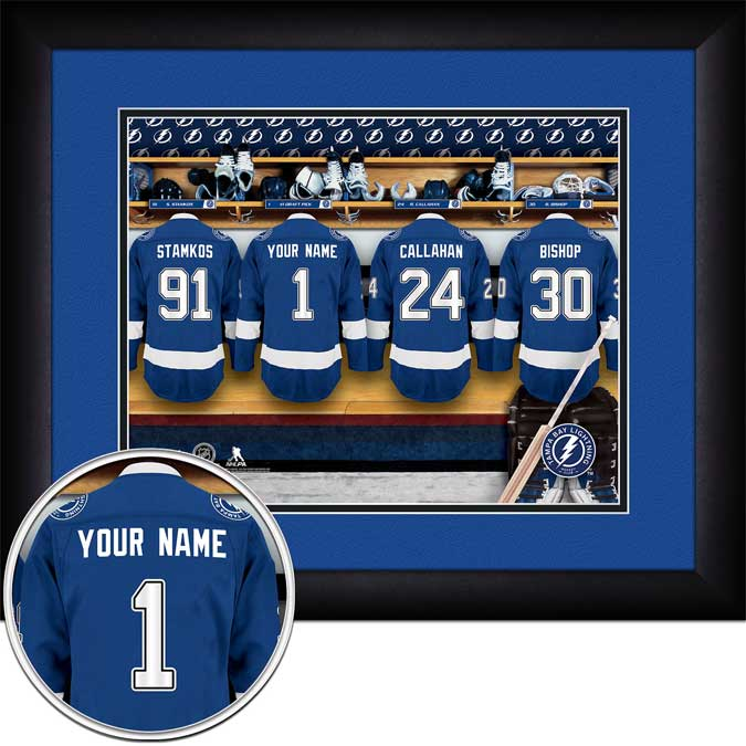 NHL - Tampa Bay Lightning - Personalized Locker Room - Framed Picture