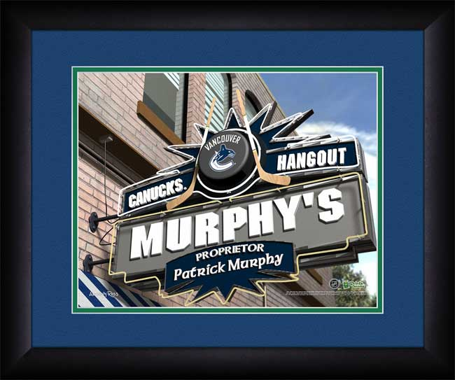 NHL - Vancouver Canucks - Personalized Hangout Sign - Framed Picture