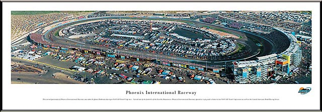 Racing - NASCAR Tracks - Phoenix International Raceway Aerial - Framed Picture